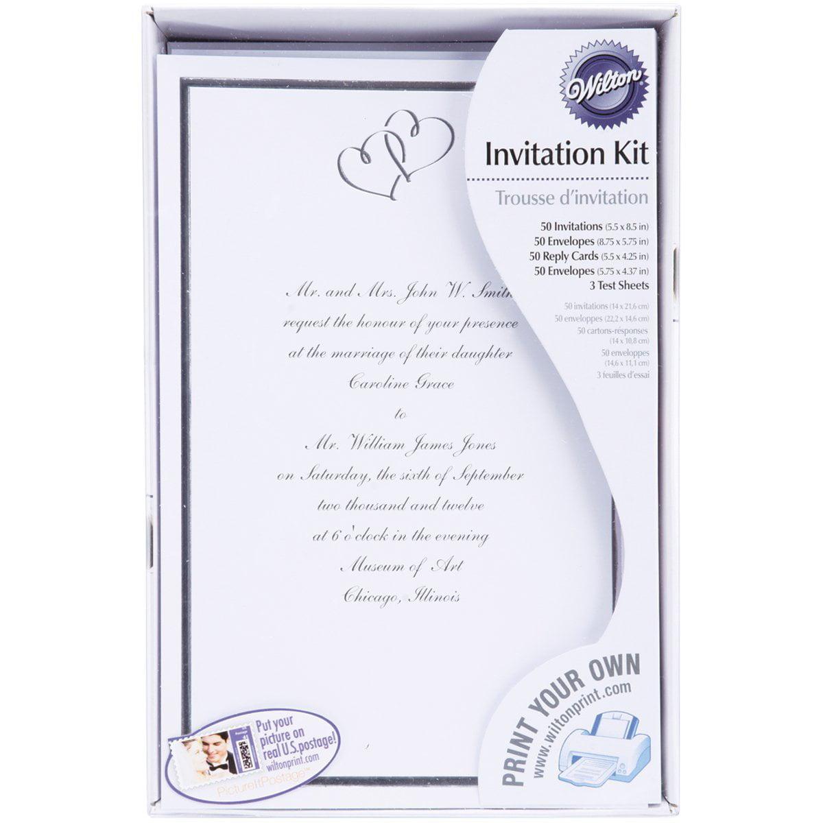 Wilton Print-Your-Own Invitations Kit Silver Sweethearts, 50 ct. 1008-668 - Walmart.com