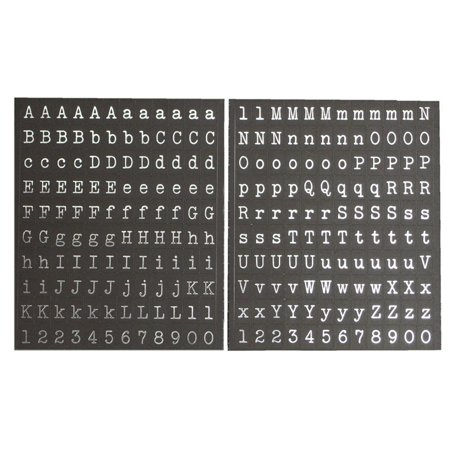 Silver Alphabet Letters Foil Stickers, 1/8-Inch, - Letter Stickers