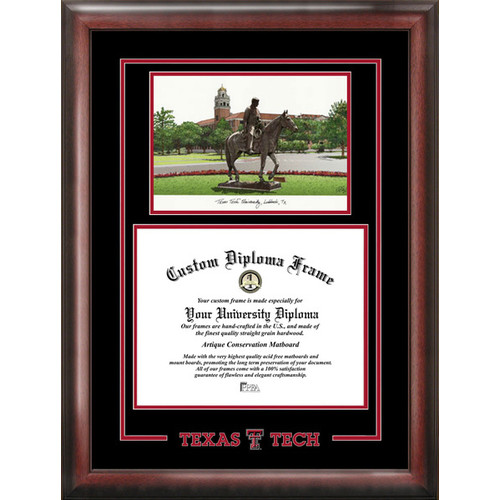 "Texas Tech Red Raiders 11"" x 14"" Spirit Graduate Diploma Frame"