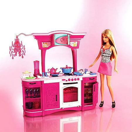 Barbie mattel barbie dream kitchen for Barbie kitchen set 90s