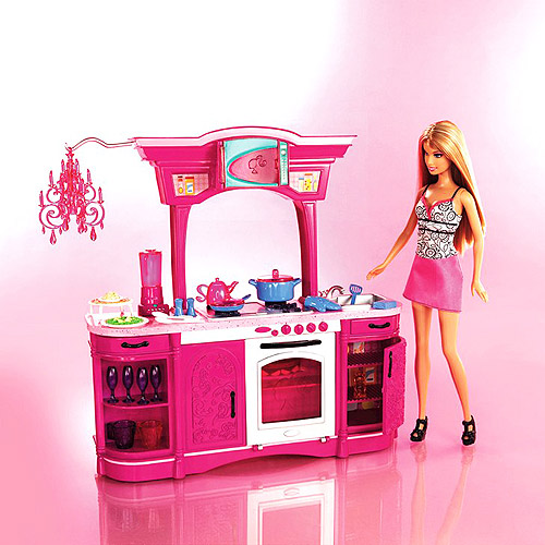 Barbie My House Dream Kitchen and Barbie Doll - Play Set