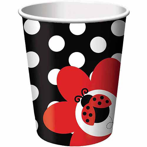 Creative Converting Ladybug Fancy 9-oz Cups, 8pk