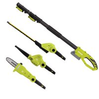 Sun Joe 24V Cordless Lawn Care System Hedge Trimmer, Pole Saw, Leaf Blower