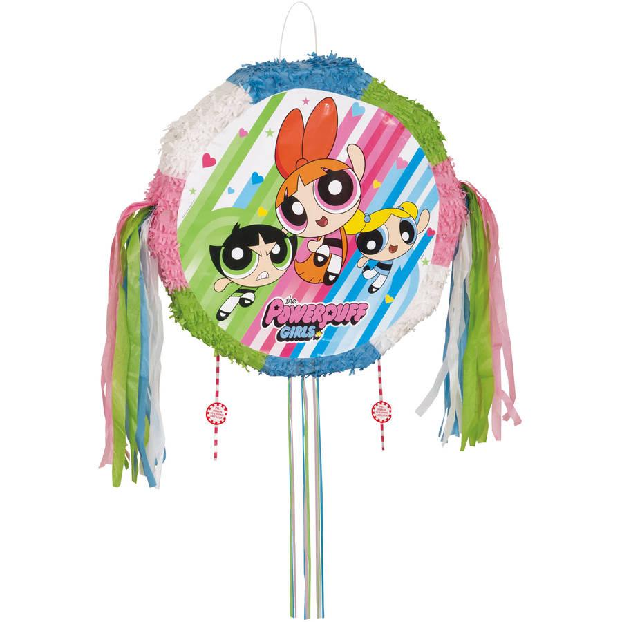 Powerpuff Girls Pinata, Pull String, 18 x 18, 1ct