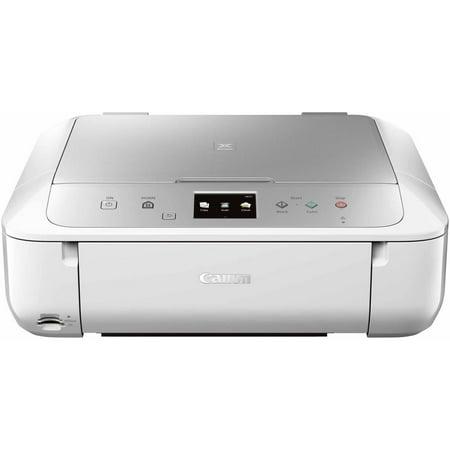 Canon PIXMA MG6822 Wireless Inkjet All-in-One Printer/Copier/Scanner, White/Silver