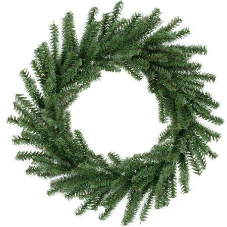 Christmas Wreath.16 Mini Pine Artificial Christmas Wreath Unlit Walmart Canada