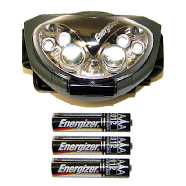 Energizer 09317 - 6 LED Headlight with Pivoting Spot / Flood Flashlight (Batteries Included) (HDL33A2E)