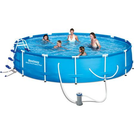 Sale Bestway 15 39 X 36 Steel Pro Frame Above Ground Swimming Pool Set Swimming Pool