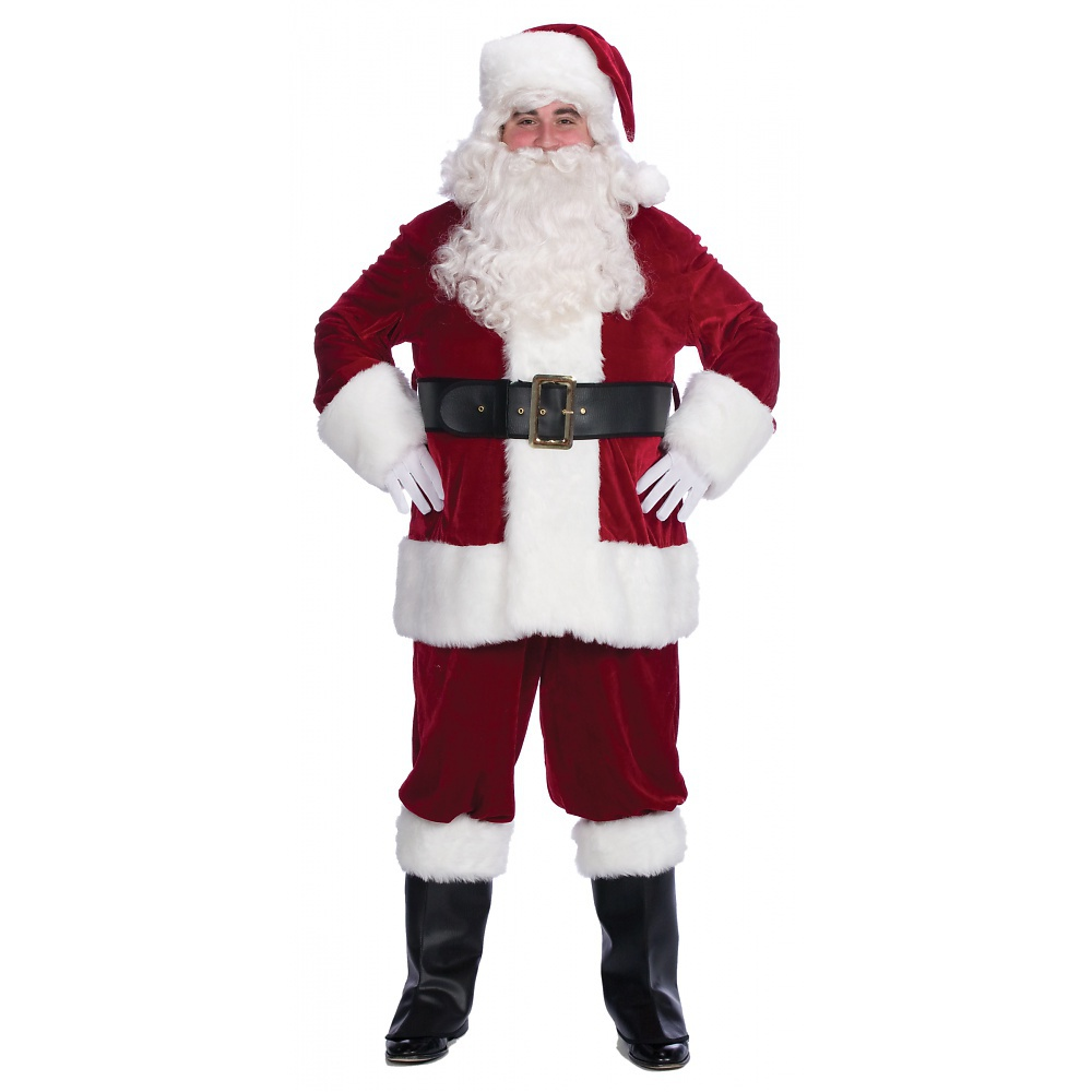 Velveteen Santa Claus Suit Adult - X-Large