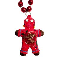 Red Goddess of Love Voodoo Bead Mardi Gras Beads Party Favor Necklace