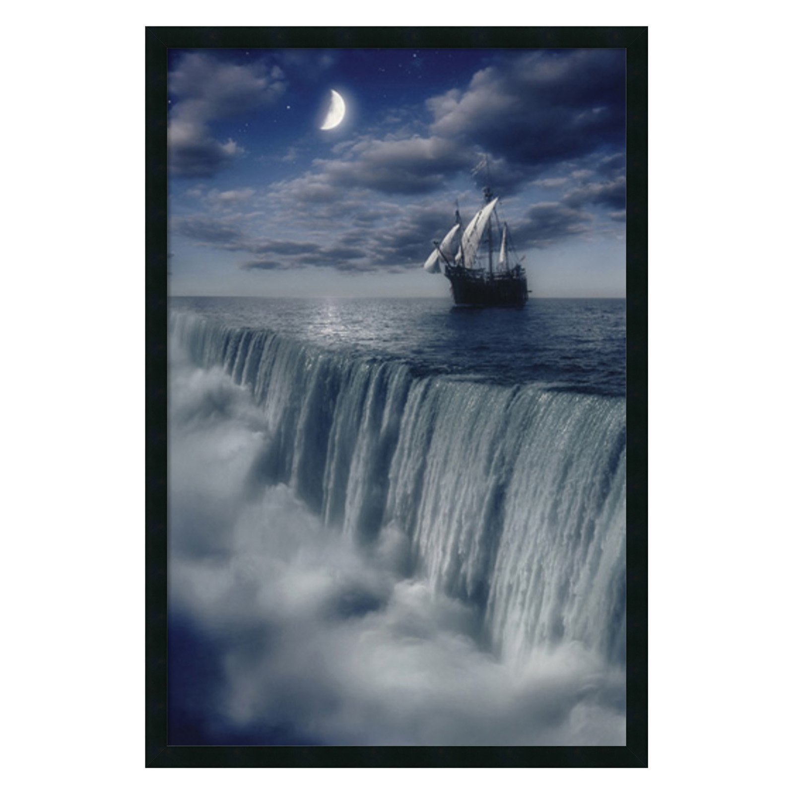Sailboat at Earth's End Framed Wall Art - 25.41W x 37.41H in.