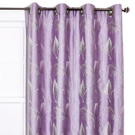 Brayden Studio Wanamaker Nature/Floral Semi-Sheer Grommet Single Curtain Panel