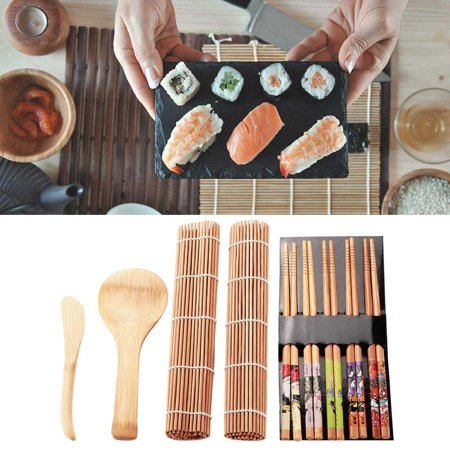 Sushi Lovers (Hilitand Bamboo Sushi Making Kit Family Office Party Homemade Sushi Gadget For Food Lovers, Sushi Mat,Sushi Kit )