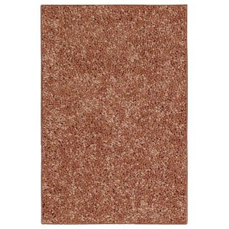 "Home Queen Pet Friendly Area Rugs rust - 6""x6""-Sample"