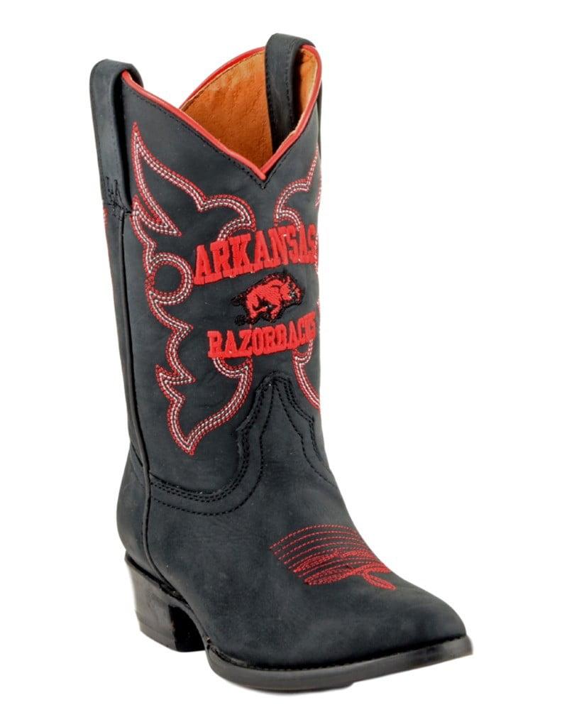 Gameday Boots Boys Western Arkansas Razorbacks Black ARK-B037-2 by Gameday Boots