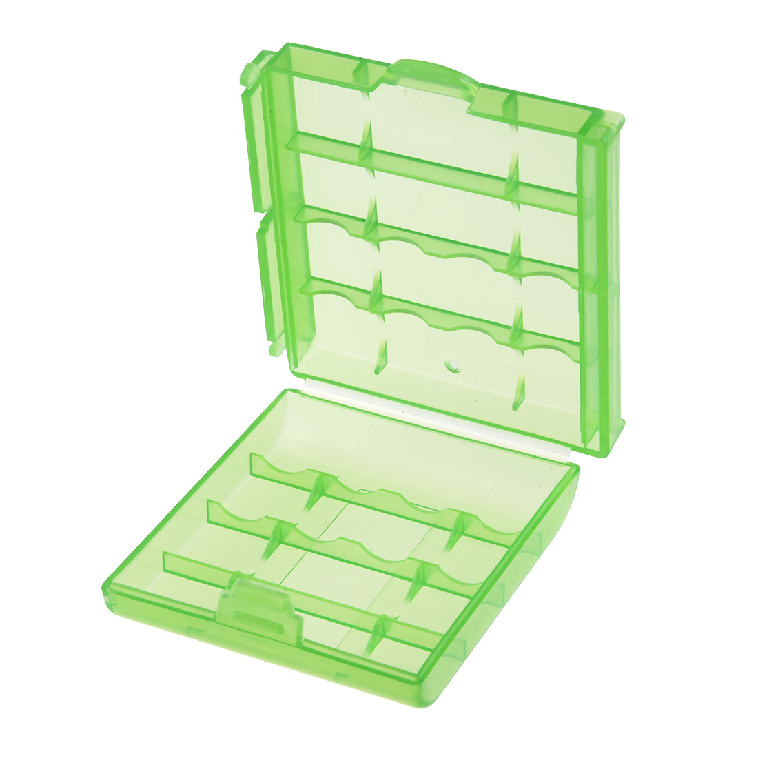Unique Bargains Portable Battery Storage Case Container Compartment Green for AAA/AA Batteries - image 2 of 4