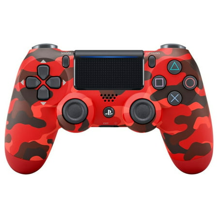 DualShock 4 Wireless Controller for PlayStation 4 - Red Camo Camouflage Wireless Controller