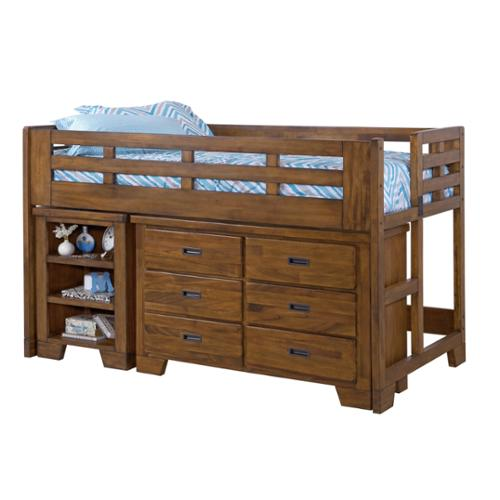 Greyson Living Hardy Low Loft Bed and Dresser