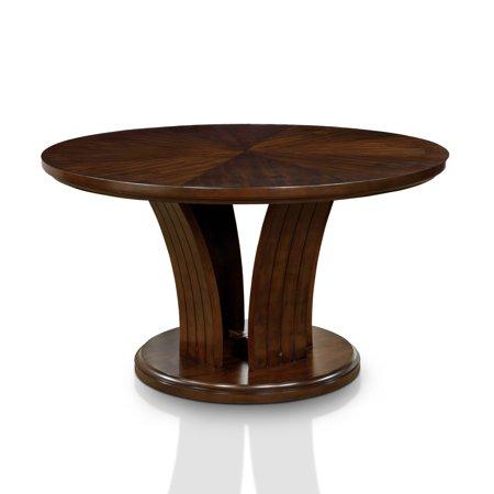 Furniture Of America Crezena Flared Pedestal Dark Oak Inch Round - 26 inch round coffee table