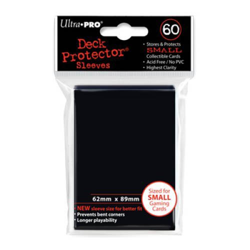 Ultra Pro Sleeves: New Small Black Deck Protectors (60) Multi-Colored
