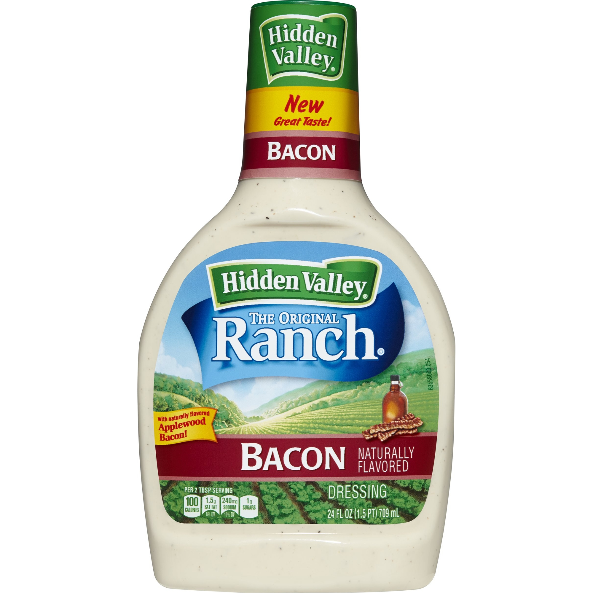 Hidden Valley Original Ranch Dressing, Bacon, 24 Fluid Ounces