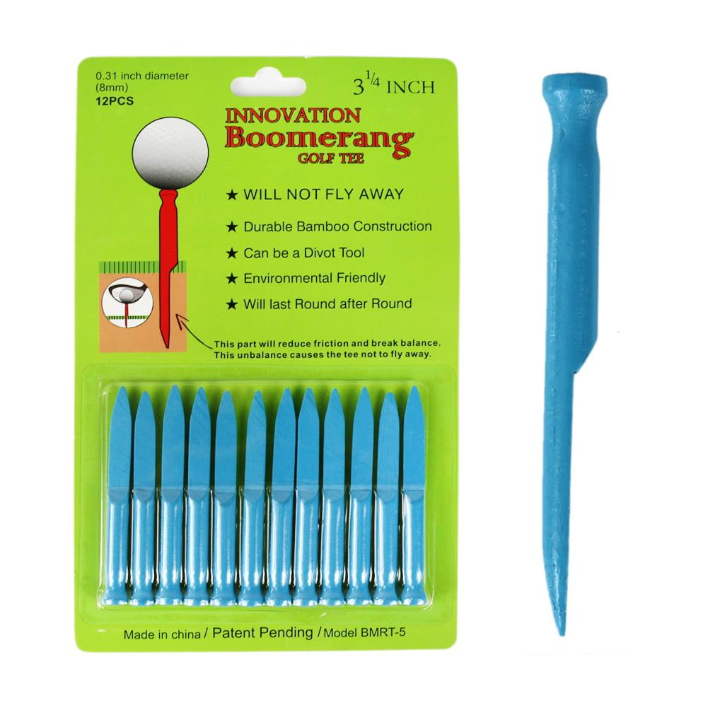 The Elixir Golf Boomerang Golf Tee Divot Tool Not Fly Away 3 1 4 inch Long Durable Bamboo Construction, Pack... by WORLTRA