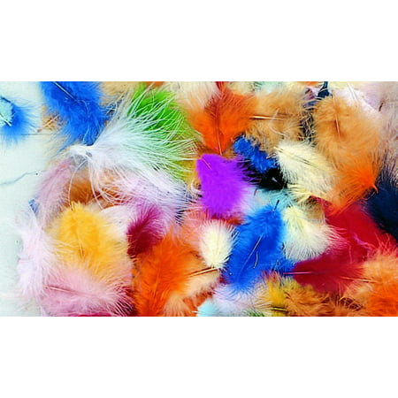 Creativity Street Marabou Feather, Assorted Colors, 1/2 Ounce Bag, Pack of 150