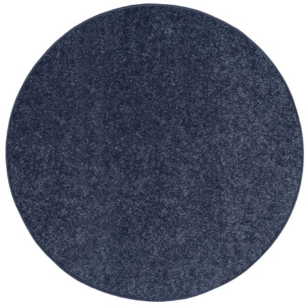 Bright House Solid Color Area Rugs Petrol Blue - 8' Round ()