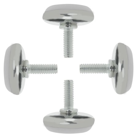 Cabinet Leg Levelers (M6 x 15 x 30mm Furniture Leveling Feet Adjustable Leveler for Cabinet Leg 4pcs )