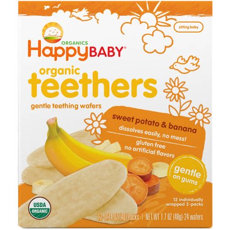 Frontier Natural Products Gentle Organic Teething Wafers Banana   Sweet Potato  1  7 Oz