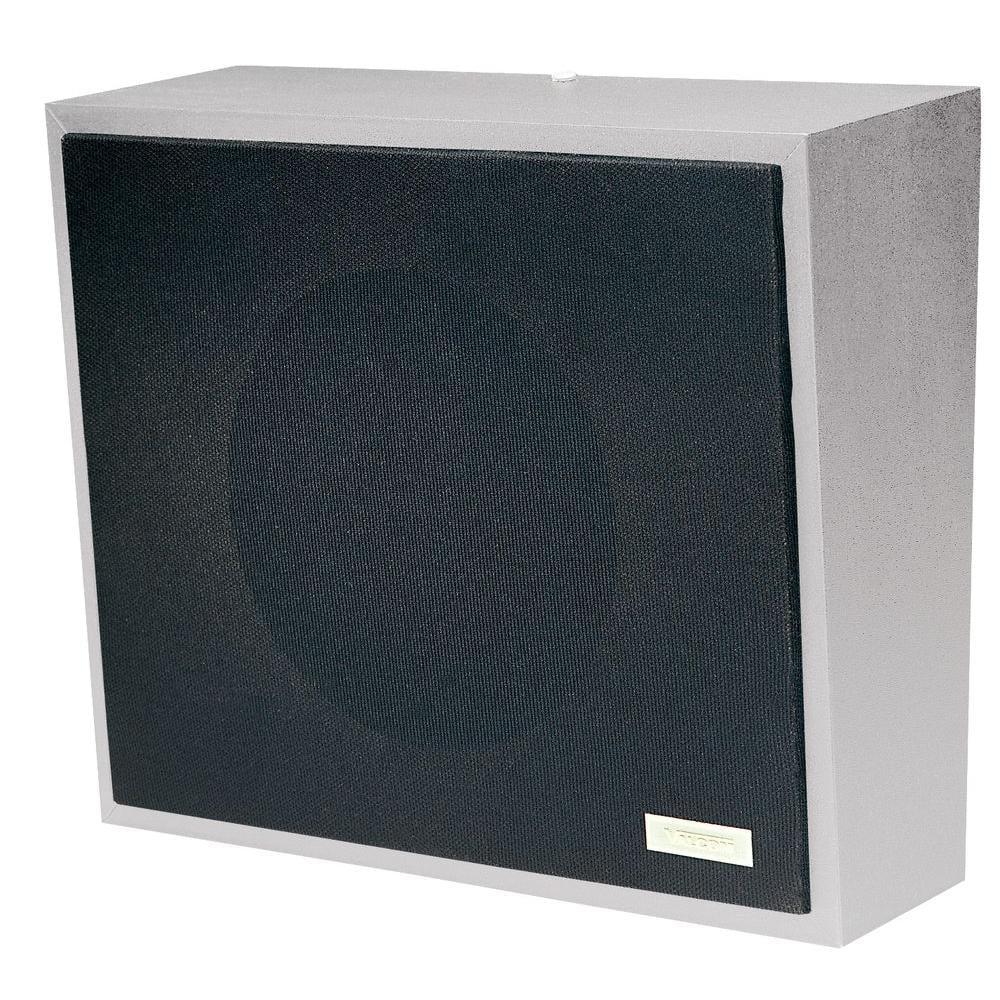 Valcom V 1052C 8 Amplified Wall Speaker, Metal, Gray