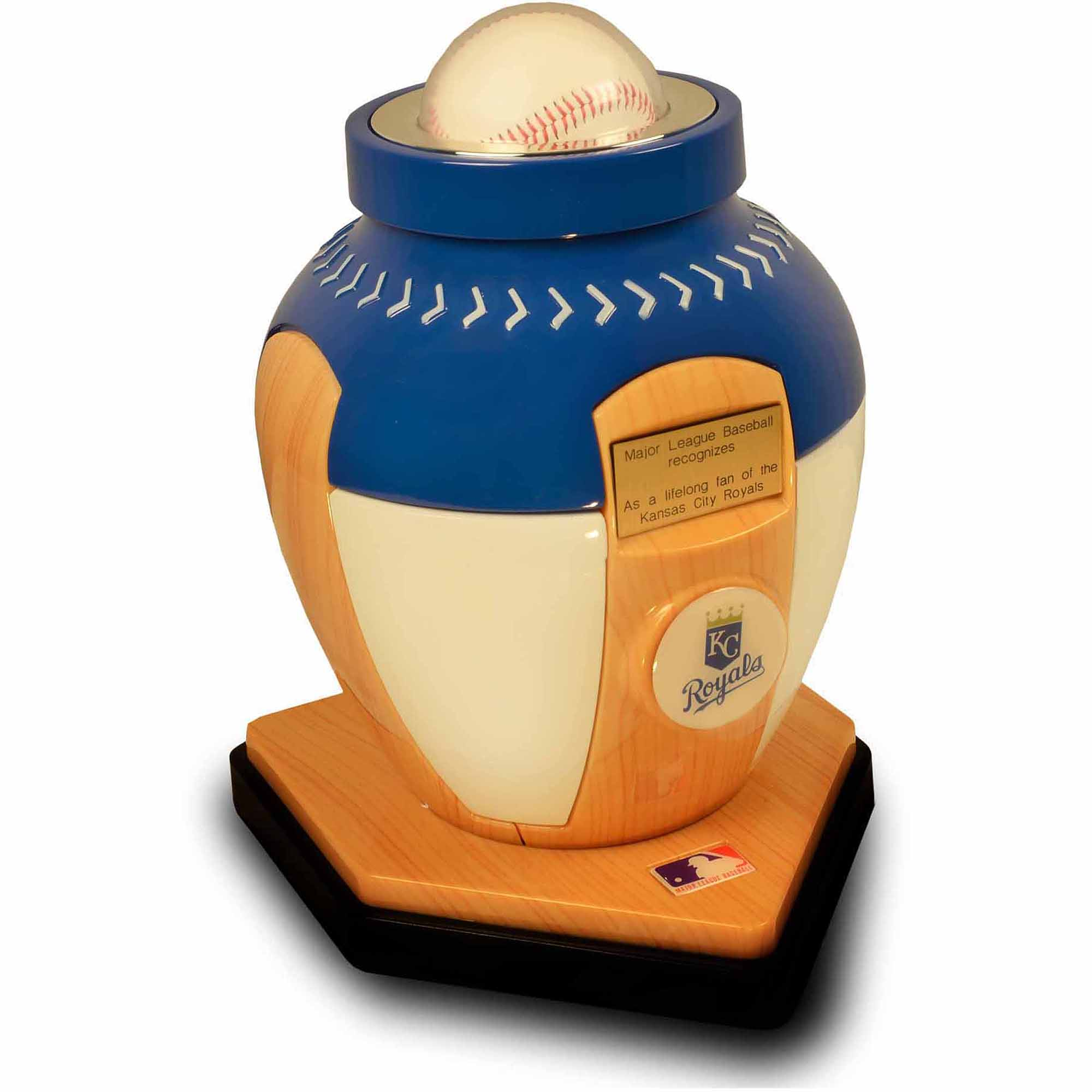 Official Major League Baseball Cremation Urn for Human Ashes - Kansas City Royals