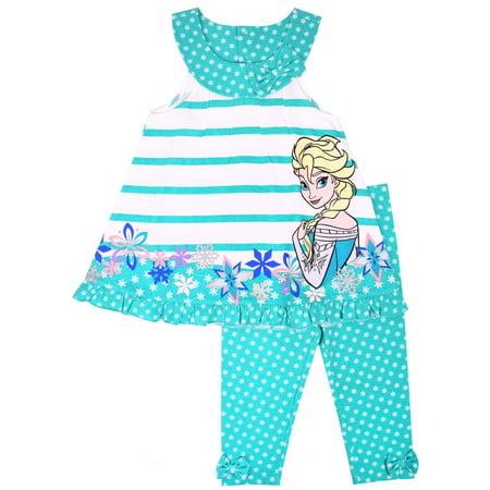 d794b8fa35c1 Disney Frozen - Disney Frozen Little Girls  4-6X Elsa Stripe ...