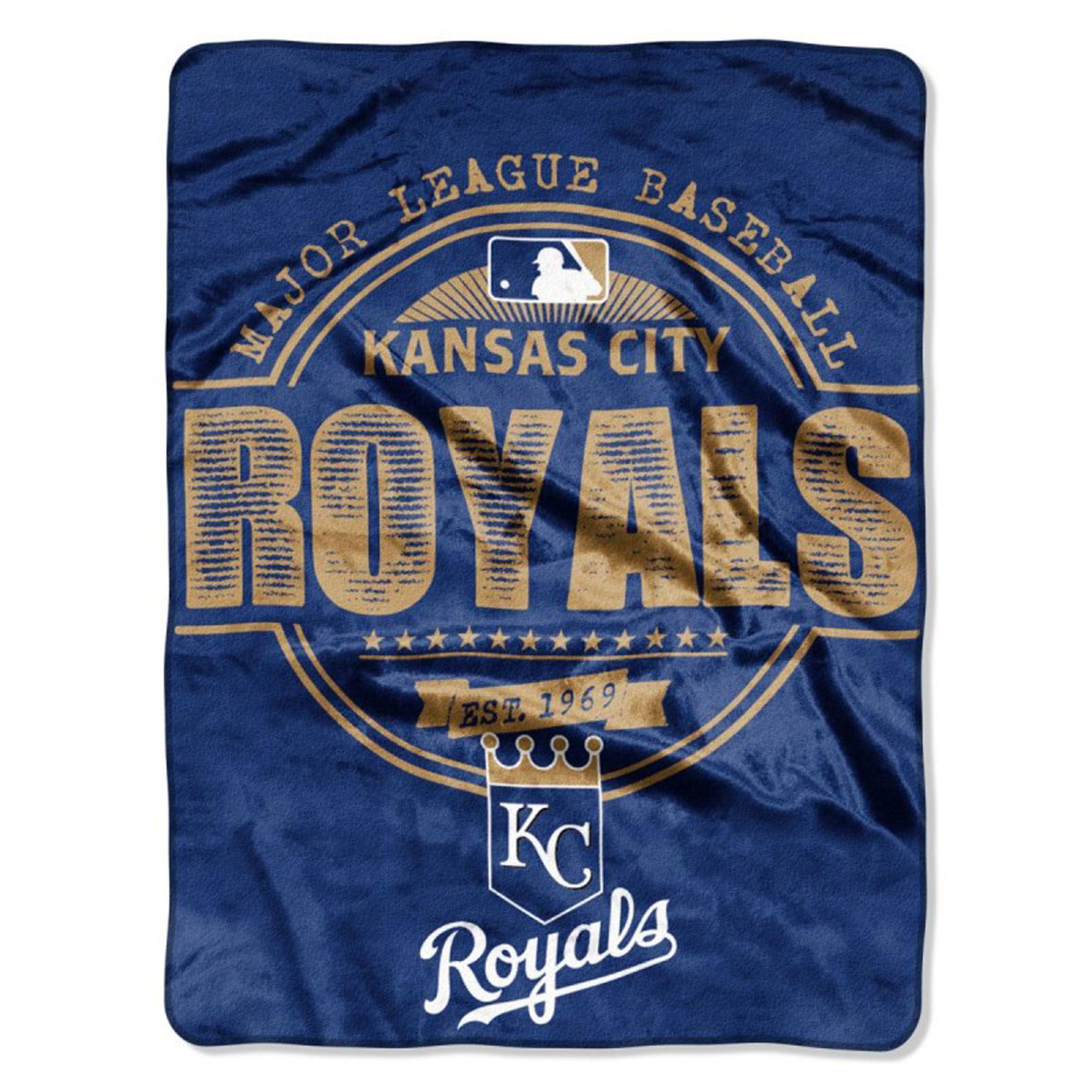 "Kansas City Royals The Northwest Company 46"" x 60"" Structure Micro Raschel Plush Blanket - No Size"