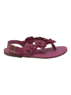 a82a566e48c Product Image Girls Fuchsia Flower Blossom Accent Buckle Thong Sandals 11-4  Kids. L Amour
