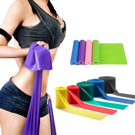 Yoga Elastic Rope Rubber Resistance Belt Environmental Fitness Stretching Band Random