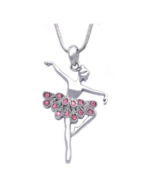 cocojewelry Ballerina Ballet Dancer Dancing Girl Pendant Necklace Jewelry