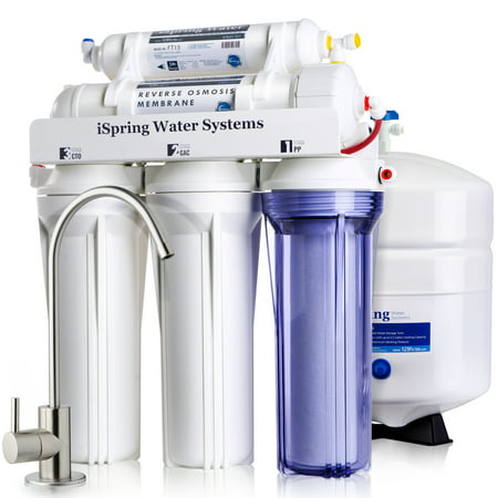 iSpring Reverse Osmosis Drinking Water Filter System - 75GPD WQA Gold Seal Certified 5-stage