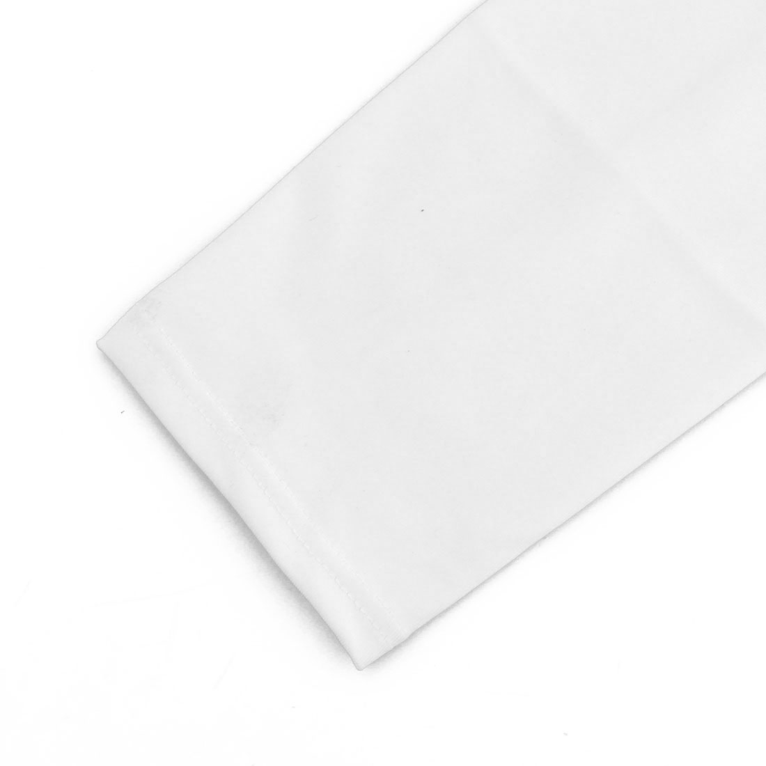 Adult Football Tennis Cycling Running Outdoor Exercise Sports Leg Sleeve White M - image 2 of 5