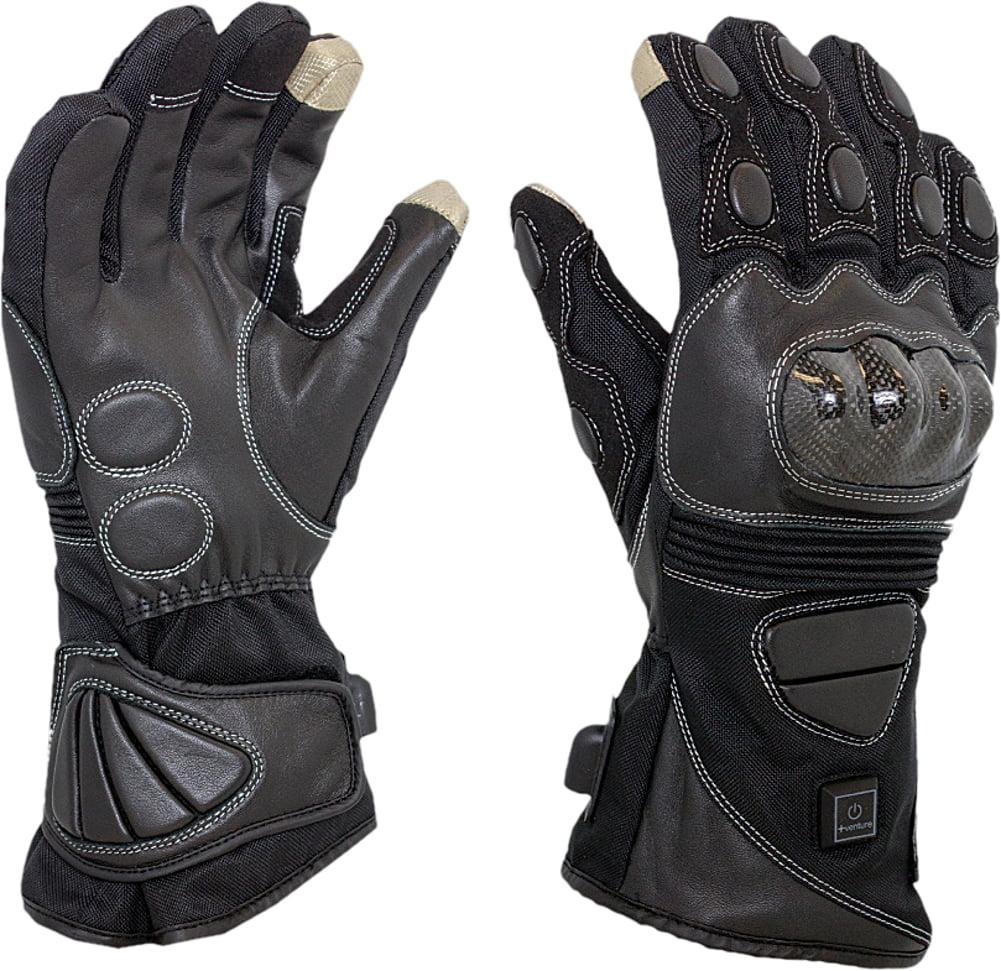 Venture Carbon Mens 12 Volt Heated Leather Gloves