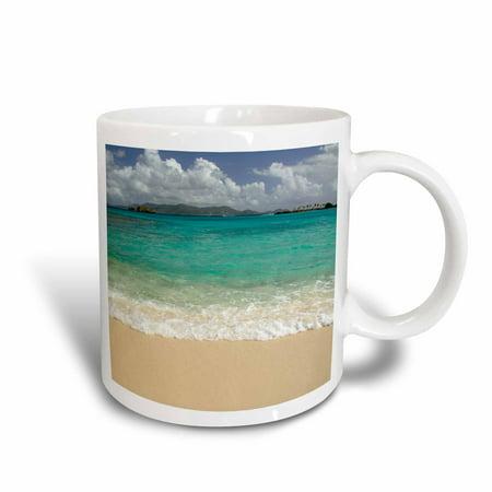- 3dRose USVI, St.Thomas, St. John Bay, Sapphire Beach-CA37 CMI0040 - Cindy Miller Hopkins, Ceramic Mug, 15-ounce