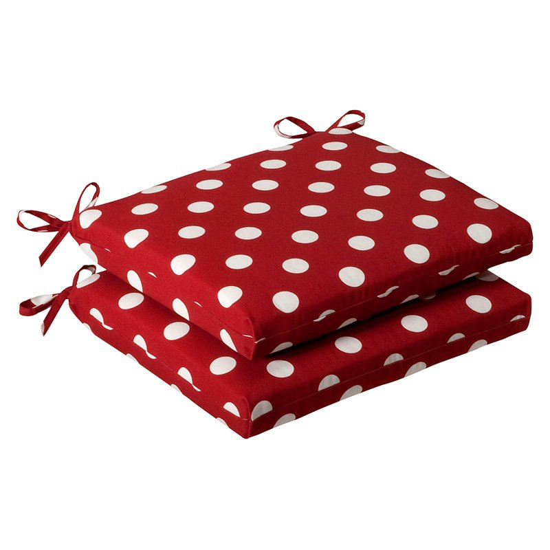 Pillow Perfect Outdoor Seat Cushion - 16W x 19D x 3H in. - Set of 2