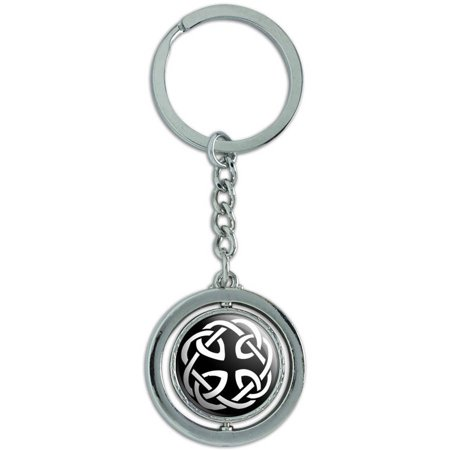 - Celtic Knot Spinning Round Metal Key Chain Keychain Ring