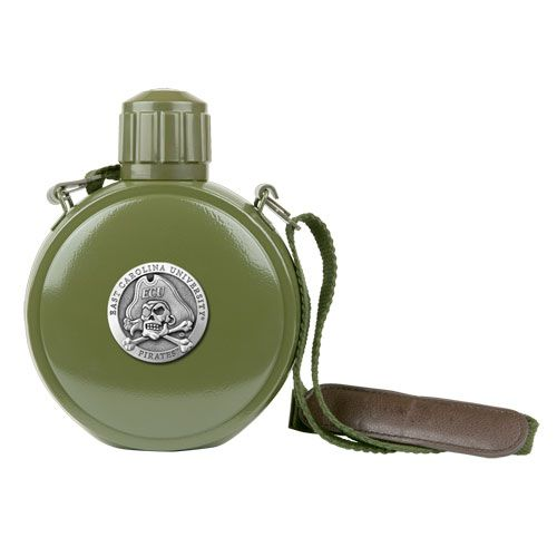 East Carolina Pirates Canteen with Compass by
