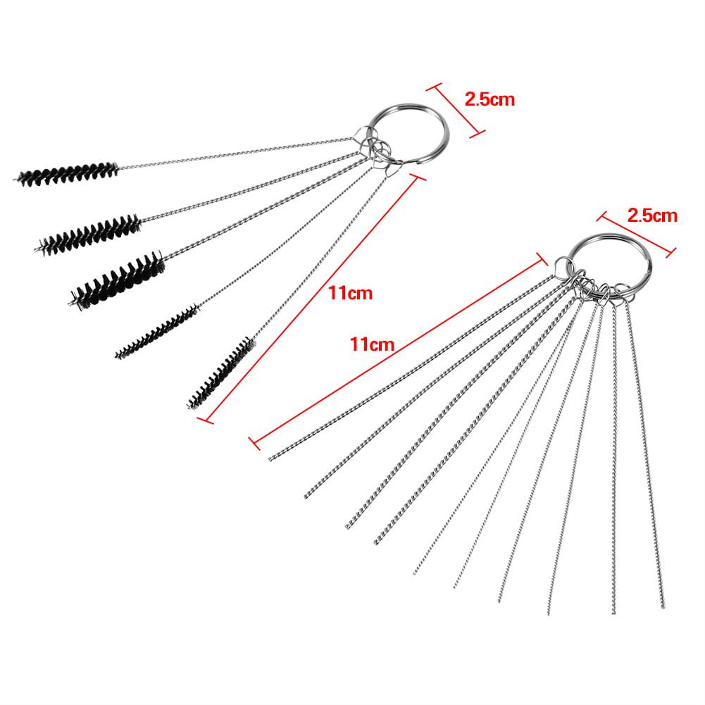 Car Carburetor Carbon Dirt Jet Remove Set 10 Cleaning Needles /& 5 Brushes Tools^