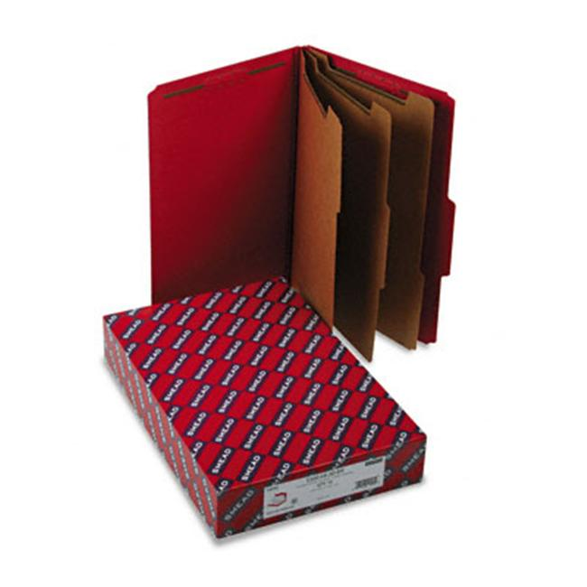 Smead 19095 3   Expansion Folders with 2/5 Cut Tab  Lgl  8-Section  Bright Red  10/box
