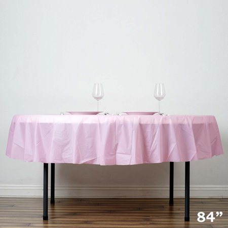 Balsacircle 84 Quot Round Disposable Plastic Tablecloth Table
