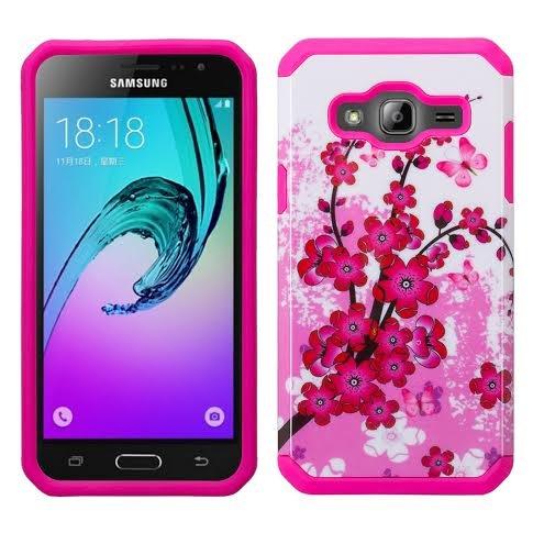 Samsung Galaxy S8 Case - Wydan Slim Hybrid Hard Shock Absorbant Rugged Phone Cover Cherry Blossom