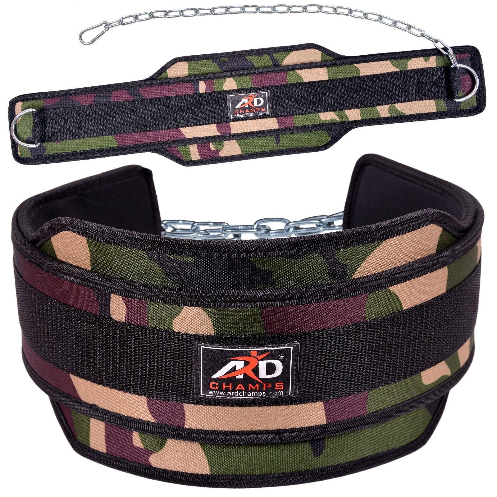 """ARD CHAMPS™ Neoprene Weight Lifting Belt Back Support Belt 5/"""" Wide Green Camo"""