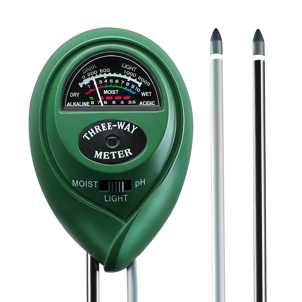 VicTsing 3-in-1 Soil pH and Moisture, Light Intensity Meter Plant Tester for Gardening, Plants Growth, Lawn Care( No Battery Required,1 Pack)